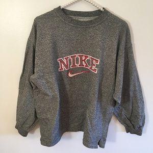 Nike gray pull over sweatshirt L